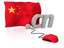 China en línea ilustración del vector