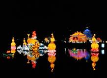 China enciende la escena 2013 del lago del festival Fotos de archivo libres de regalías