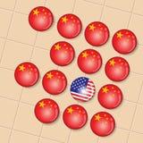 China es el ganador grande adentro va juego de mesa Fotos de archivo