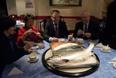 China Escocia Salmon Export Deal 2011 foto de archivo libre de regalías