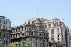 The China Everbright bank building on the Bund Royalty Free Stock Photo