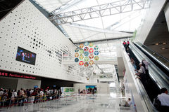 China Expo 2010 Shanghai City Museum of the earth. The pavilion is located in zone B theme museum, exhibition space is mainly composed of two symmetrical spiral Royalty Free Stock Images
