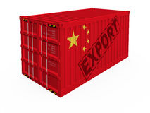 China export. Container isolated on white vector illustration