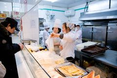 China fast foods in Harbin Royalty Free Stock Images