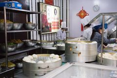 China fast foods in Harbin Royalty Free Stock Photography