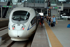 China - fast trains in Guangzhou Stock Images
