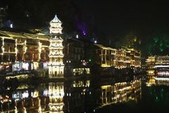 China Fenghuang old city Fenix Royalty Free Stock Images