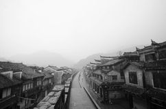 CHINA FENGHUANG. Old town China Fenghuang Xiangxi countriside Old building Stock Photography