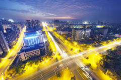 China financial district cityscape. Royalty Free Stock Photos