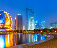 China financial district cityscape. Royalty Free Stock Photography
