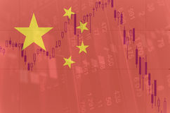 China financial markets downturn. Royalty Free Stock Image