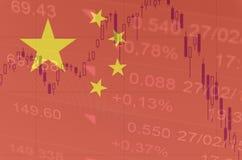 China financial markets downturn. Stock Photos