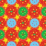 China five star circle symmetry seamless pattern Royalty Free Stock Image
