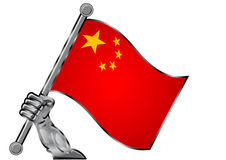 China flag Royalty Free Stock Images