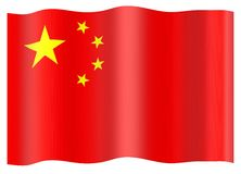 China flag Royalty Free Stock Images