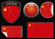 China flag Stock Photography