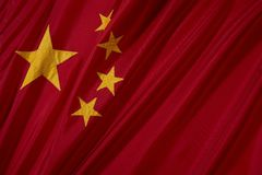 China Flag. The national flag of China Royalty Free Stock Photo
