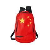 China flag backpack isolated on white Stock Photos