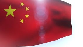 China flag blowing in the wind wave waving. Video stock video
