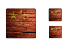 China Flag Buttons Royalty Free Stock Photo