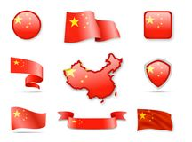 China Flag Collection. Royalty Free Stock Images