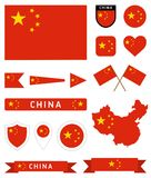 China flag complete collection Stock Images