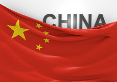 China flag and country name Royalty Free Stock Photos