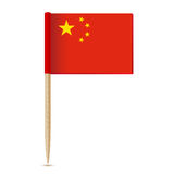 China Flag. Flag toothpick 10eps Stock Images