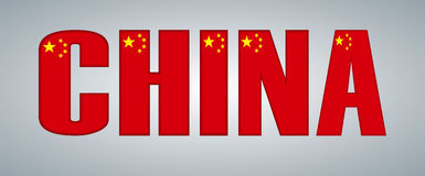 China flag in the form of letters. Royalty Free Stock Image