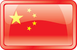 China Flag Icon Stock Photography