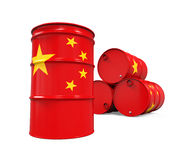 China Flag Oil Barrel stock illustration