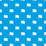 China flag pattern seamless blue Stock Photos