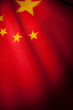 China Flag. Red China Flag for background stock photos