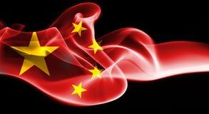 China flag smoke. Isolated on a black background Stock Photography