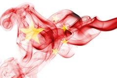 China flag smoke Royalty Free Stock Photos