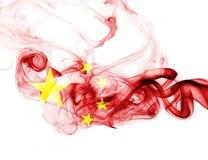 China flag smoke. Isolated on a white background Royalty Free Stock Image