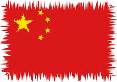 China flag stylized royalty free stock photos