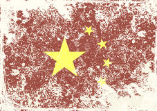 China flag vintage abstract grunge background Stock Photography