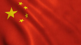China Flag. Waving full frame background texture stock photography