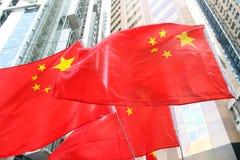 China-Flaggen Stockbilder