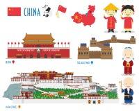Free China Flat Icon Set Travel. Monuments And Landmarks Royalty Free Stock Image - 89480306