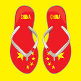 China flip flop sandals Stock Photo