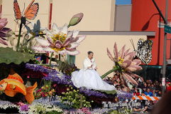 China Float at Rose Parade Pasadena Stock Photo