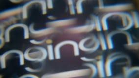 2019-1-24, CHINA, fondo móvil abstracto en estilo del caleidoscopio Bing de Microsoft en la pantalla de ordenador Bloqueo de a almacen de metraje de vídeo
