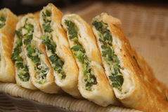 China Food: Green Onion Pancake Royalty Free Stock Photography