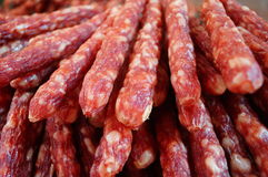 China food: meat sausage Stock Images
