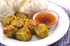 China food. Steamed Dumpling and Steamed dumpling Royalty Free Stock Photos