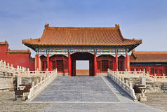 China Forbidden city Internal Gate Stock Photography