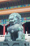China Forbidden City Lion Stock Photo