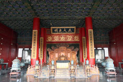 China : Forbidden City. The throne in the Palace of Heavenly Purity, Forbidden City royalty free stock photos